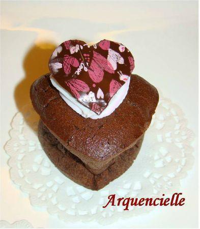 Coulant au chocolat coeurs détail