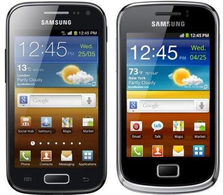 galaxy ace 2 et galaxy mini 2 Les Samsung Galaxy Ace 2 et Mini 2 annoncés