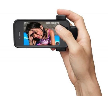 Belkin Poignée 1 600x531 Belkin LiveAction : trois accessoires photos pour votre iPhone 4S
