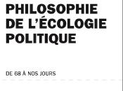 Philosophie l'écologie politique, d'Eva