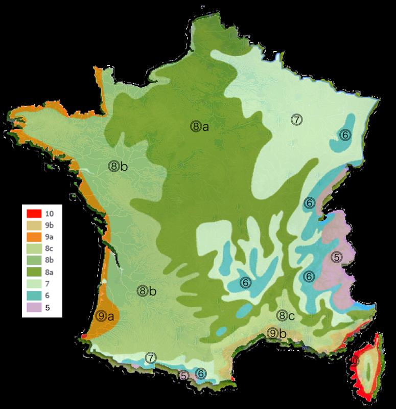 France-zones-de-rusticité