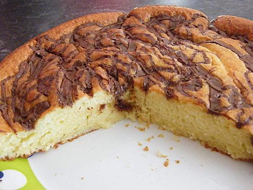 Gâteau Au Yaourt Marbré Au Nutella à Voir