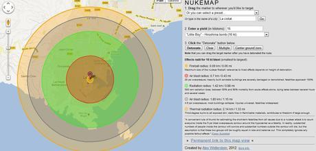 Nukemap Nukemap : limpact dune bombe nucléaire sur votre ville