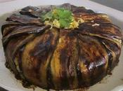 Gâteau surprise l'aubergine Timbale macaronis aubergine