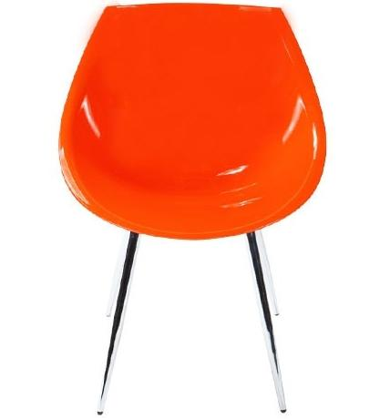 chaise orange rétro
