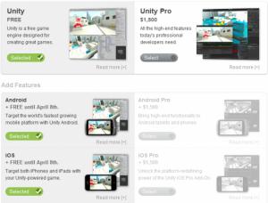 Licence Unity 3D est gratuite