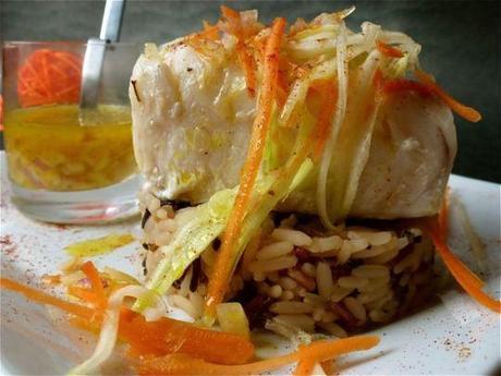 Cabillaud (morue) en hypo cuisson, dégustation du yuzu
