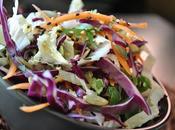 Salade chou rouge mode asiatique, graines sésame