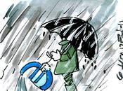 Zone Euro plans d'irrigation pendant déluge