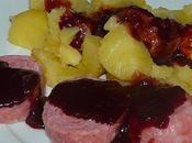 Saucisson Lyon sauce beaujolaise (Thermomix)
