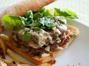 Fast food week Burger l'agneau, sauce yahourt épicée oignons rouges
