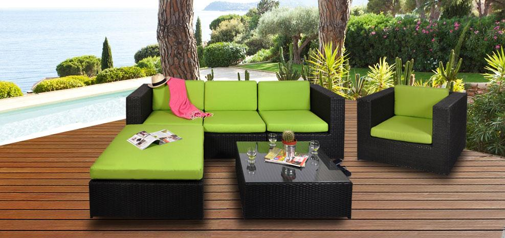 vente priv e num ro 19 salon de jardin malaga vert voir. Black Bedroom Furniture Sets. Home Design Ideas