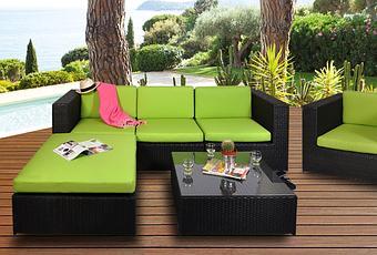 Vente privée numéro 19 : salon de jardin Malaga vert | À Voir