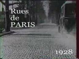 Rues de Paris en bus en 1928