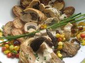 Suprêmes poulet farcis morilles sauce brie champignons forestiers