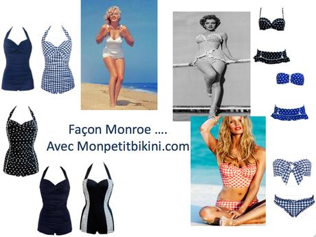 Retour aux 50s : on shoppe les maillots Marilyn Monroe de Mon Petit Bikini !