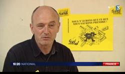 Patrick Ackermann (Sud Télécom) sur France 3 JT du mardi 3 Avril 2012