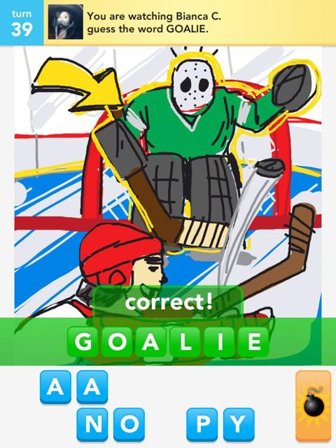 draw something goalie