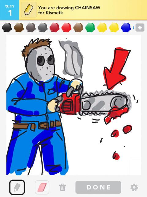 draw something chainsaw
