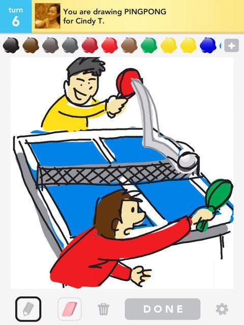 draw something pingpong