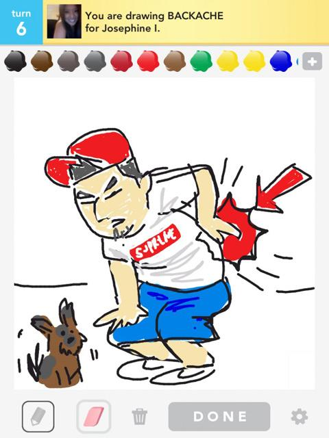 draw something backache