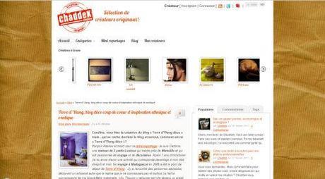 Mon interview sur le Blog Chaddek