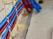 Combles Installation tubes réseaux chauffage d'ECFS