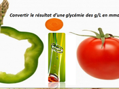 Conversion automatique glycémie mmol/L