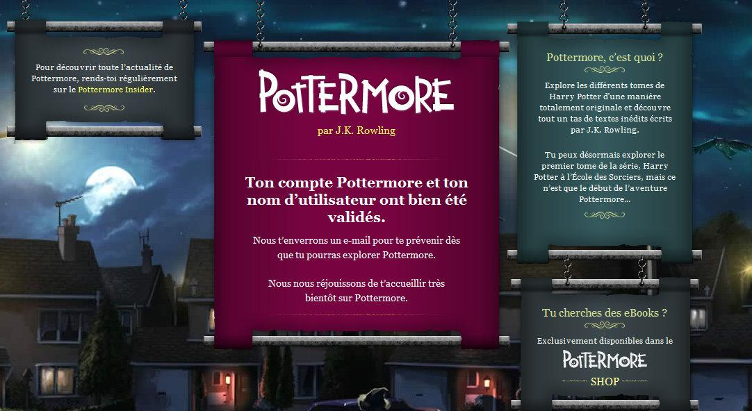 Pottermore 1 Harry Potter : le site Pottermore accessible à tous