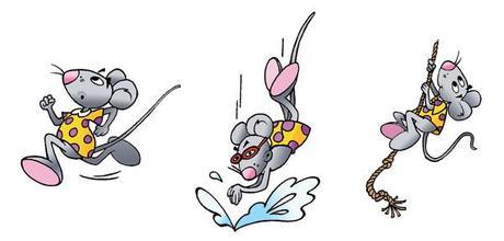 Lali la petite souris fait du sport