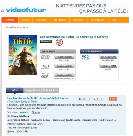 Le catalogue Sony Pictures Home Entertainment entre chez Videofutur