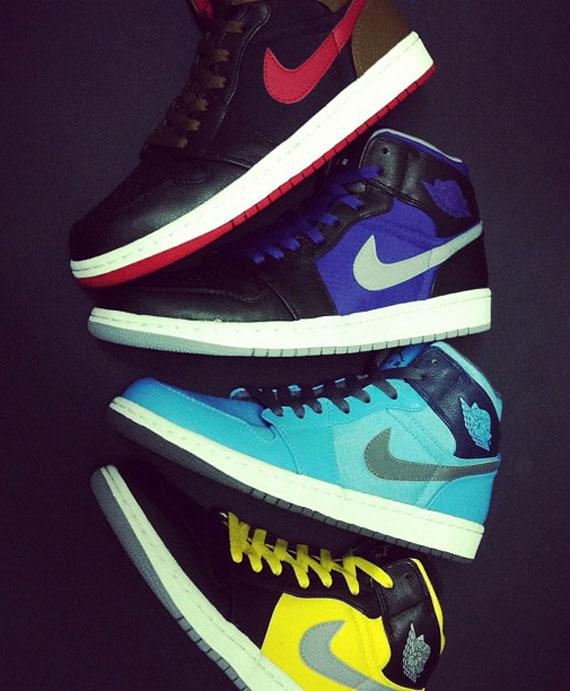 Air Jordan 1 Phat Mid Holiday 2012