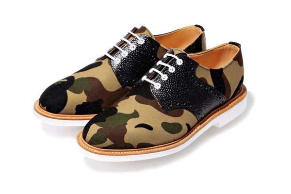 MARK MCNAIRY FOR A BATHING APE – 1ST CAMO SADDLE SHOES