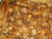 Tarte feuilleté crevettes oignons