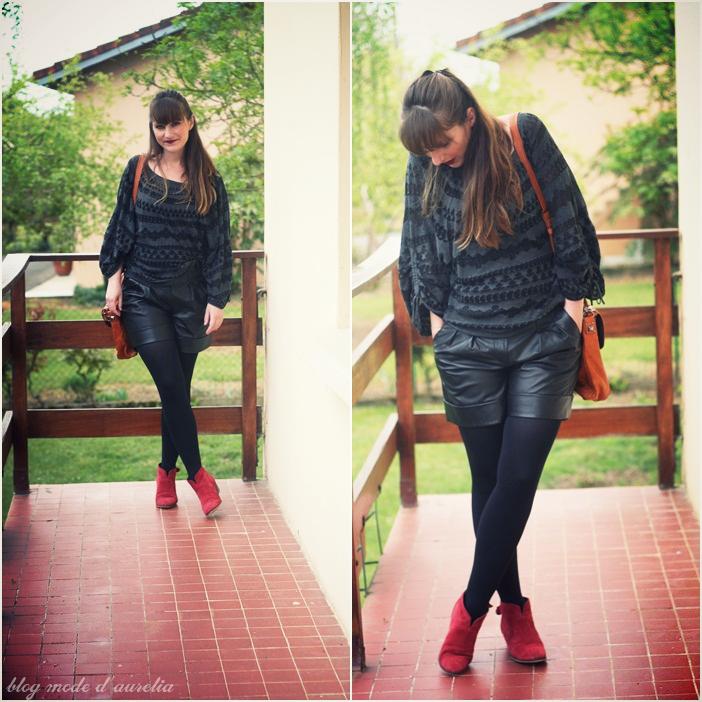 Pull large et short en cuir | À Découvrir