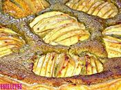 Tarte feuilletée pommes crème pistache