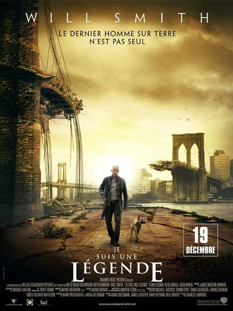 affiche du film je suis une legende de francis lawrence avec will smith