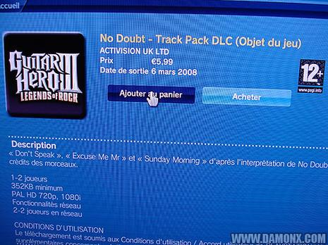 Pack No Doubt pour Guitar Hero III
