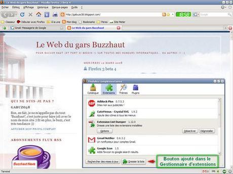Firefox liste extensions 1 - addons list 1