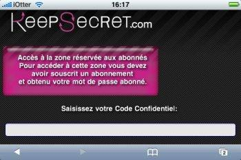 KeepSecret iPhone