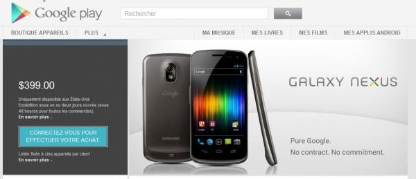 nexus google sell 600x259 Google commercialise le Galaxy Nexus sur Google Play