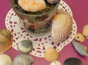 Petite verrine crevettes tartare d'algues classique