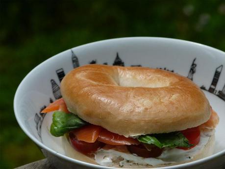 Bagel au saumon tomate et basilic… de flemmarde