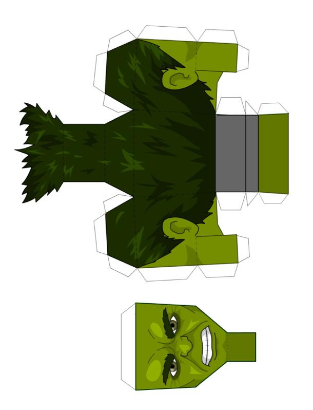 The Hulk papertoy (Avengers 2012)