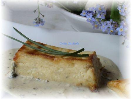 mousseline de st jacques au sel de truffle et sauce oseille