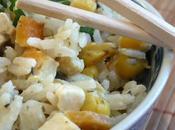 basmati petits légumes, algues Nori, curry noix coco