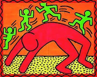Doodle Keith Haring, peintre américain.