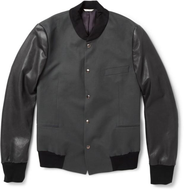 196559 Paul Smith black leather bomber 620x640 La capsule preppy de Paul Smith pour MR PORTER