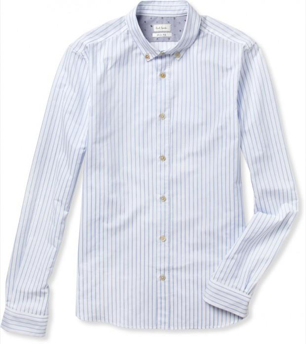 196551 Paul Smith blue white striped shirt 620x695 La capsule preppy de Paul Smith pour MR PORTER