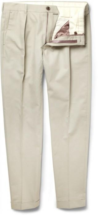 196557 Paul Smith beige trousers 318x700 La capsule preppy de Paul Smith pour MR PORTER